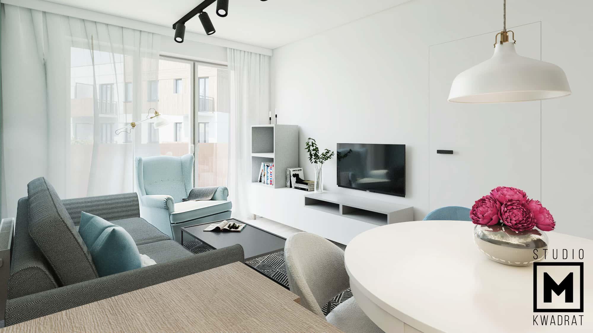 mieszkanie toruń kuchania salon projekt wnętrza