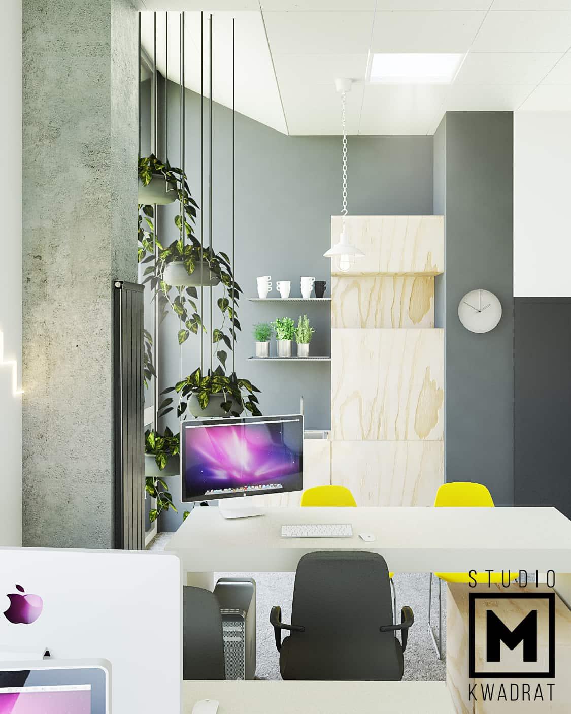 projektowanie wnętrz biura, przestrzeń biurowa, biura przy hali