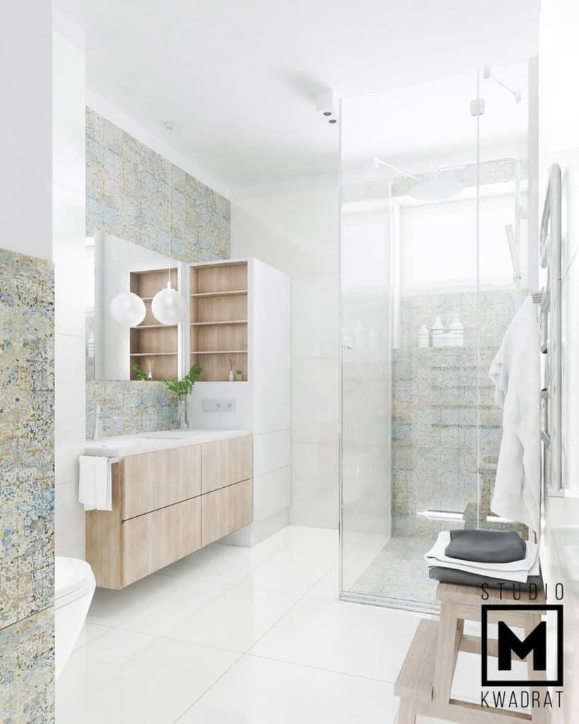 projekt zabudowy w łazience, meble na wymiar do łazienki, projekt łazienki