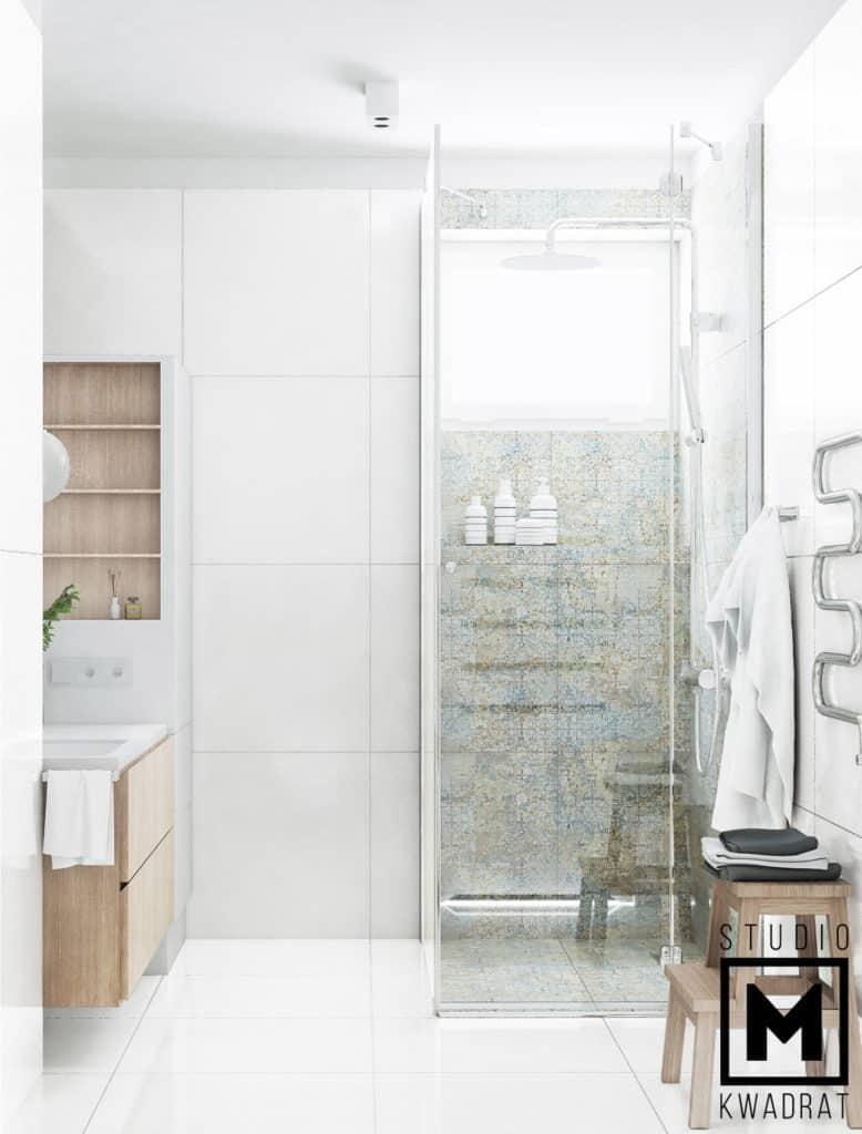 minimalizm łazienka inspiracje, projekt przestrzeni łazienkowych