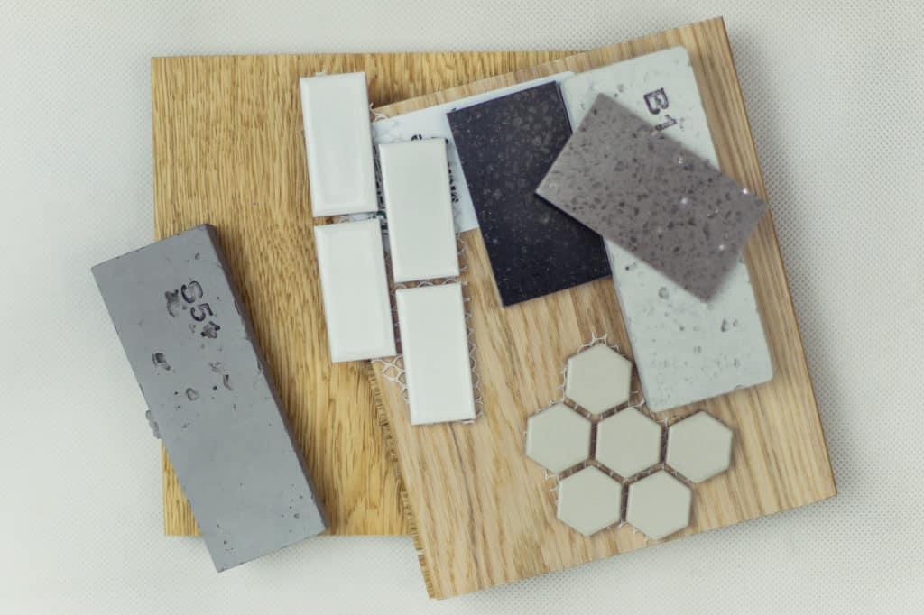 żywy moodboard materiały wykończeniowe wnętrz