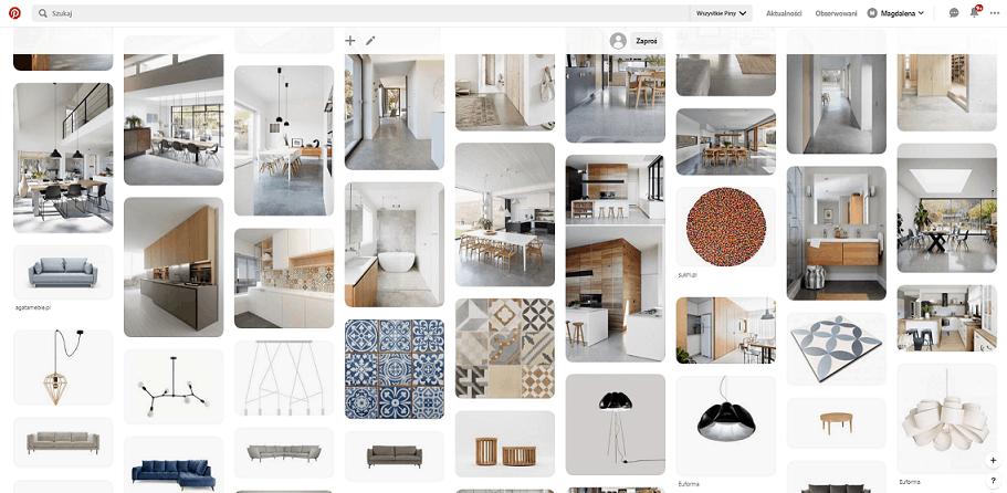 Moodboard w architekturze wnętrz i projektowaniu wnętrz.