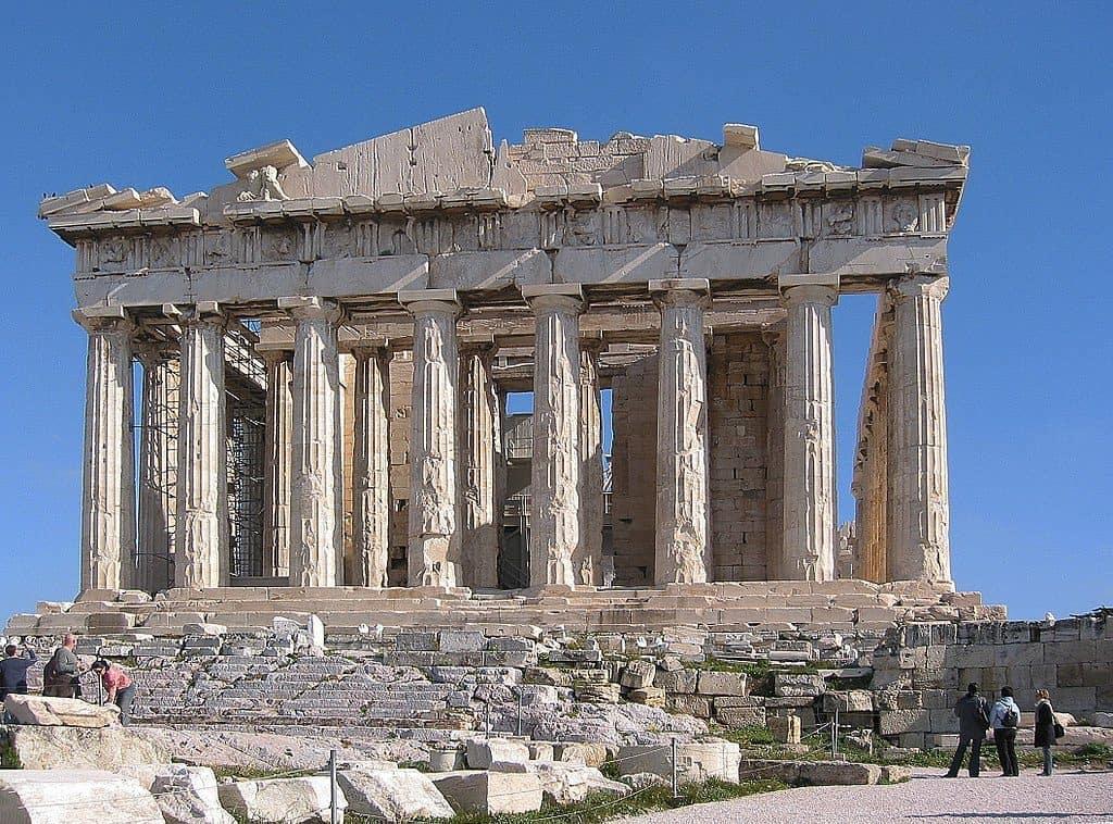 partenon na akropolu złoty podział