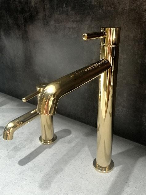 złota bateria umywalkowa trendy 2019