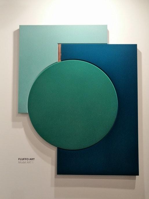zielony geometryczny panel ścienny ozdobny