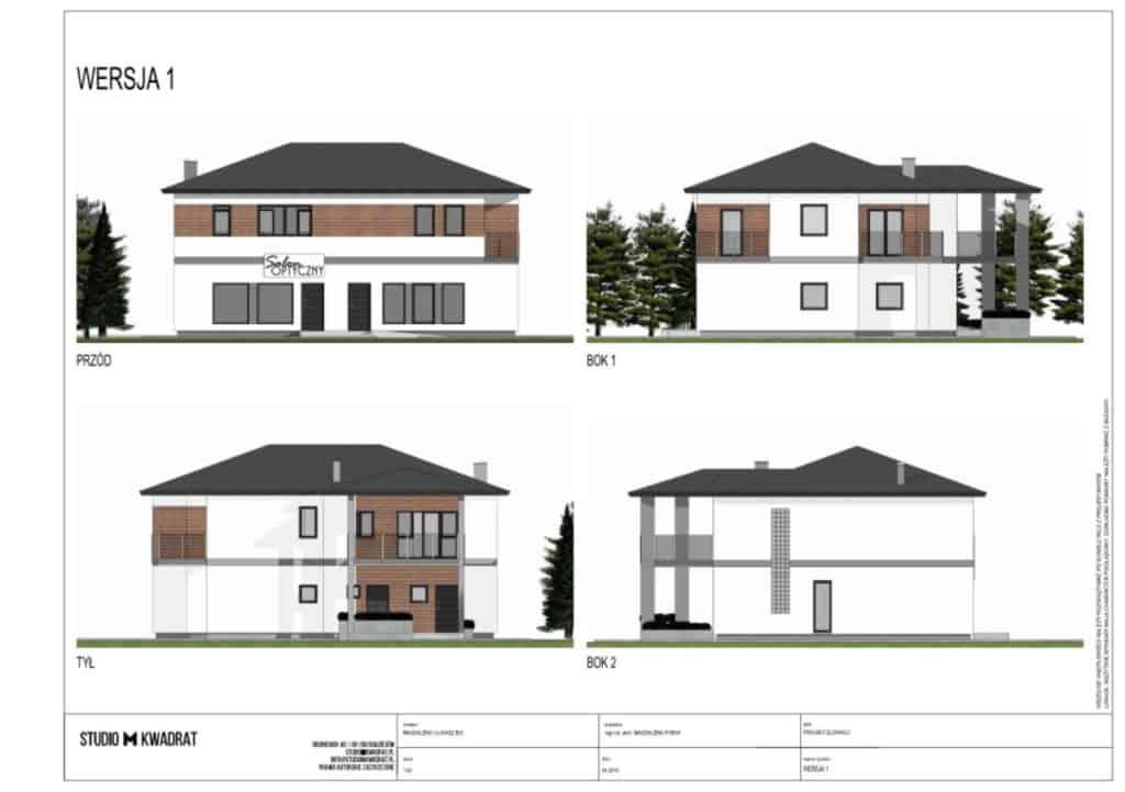 projekt elewacji widoki domu jednorodzinnego z wszystkich stron projekt elewacji