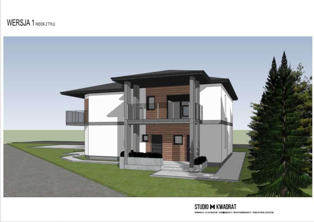 projekt elewacji model 3d domu jednorodzinnego wizualizacja