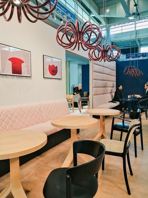 retro kawiarnia na wnętrzu w Arena Design 2020
