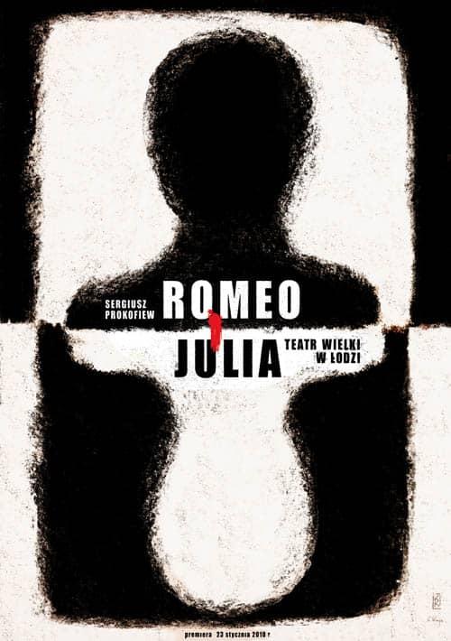 plakat teatralny ryszard kaja romeo i julia