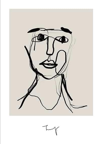 plakat abstrakcja muural