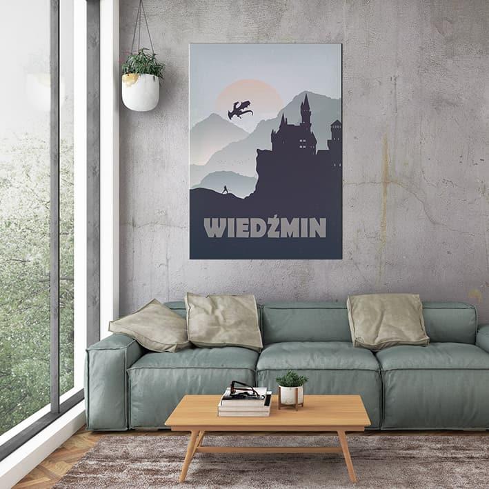 plakat w architekturze wnętrz wiedźmin