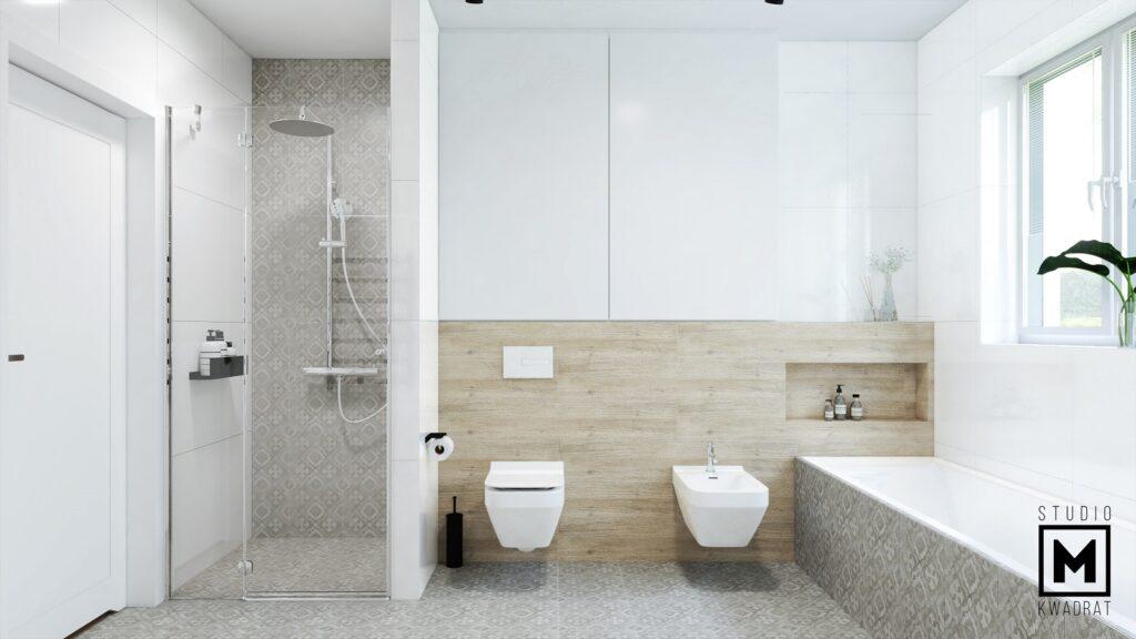 Nowoczesna łazienka patchwork
