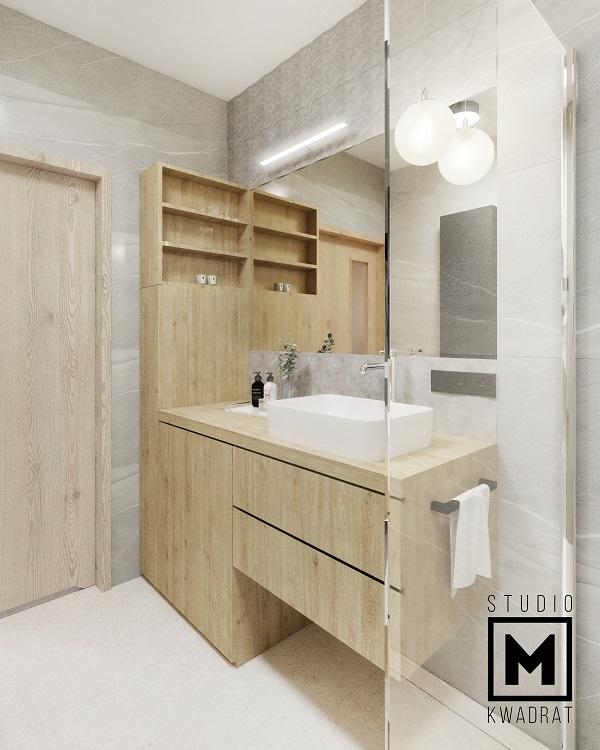 szafka łazienkowa na wymiar ukryta pralka