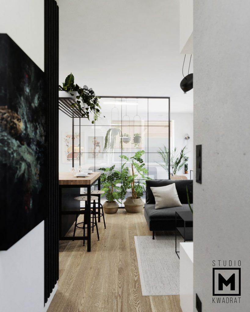 salon zaprojektowany przez architekta wnętrz